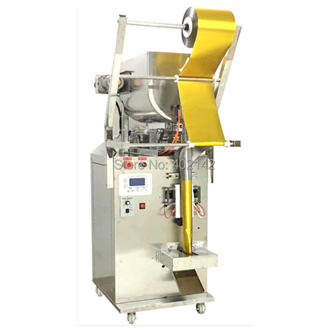3 side seal SMBJ-600HS liquid packing machine with horizontal stirring for the sauce with seeds