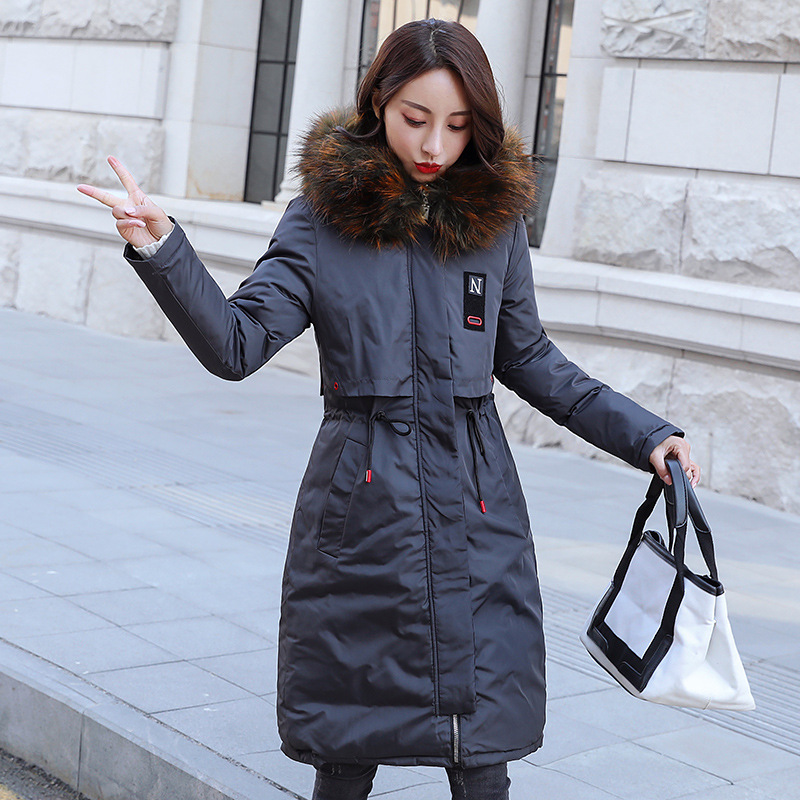 2018 New Arrival Winter Jacket Women Long Cotton Padded Outerwear Womens Coat Parka With Colorful Fur Female Hooded Jackets #7