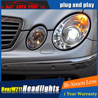 LED Head Lamp for Benz W211 led headlights 2003 2006 for W211 head light drl H7 hid Bi Xenon Lens angel eye low beam led drl