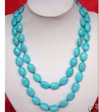 Women jewelry choker anime gem chocker maxi collier natural Turquoise Beads Huge stone 13x18MM blue turquoise Necklace