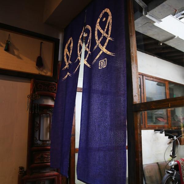 Japanese Style Golden Fish Door Curtain 2