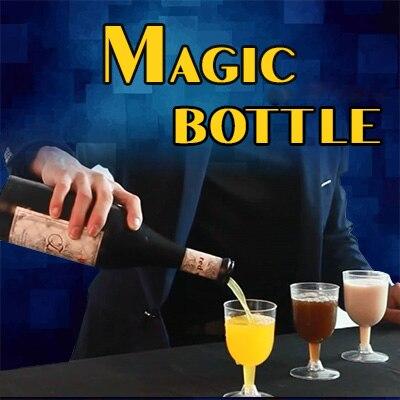 Magique bouteille tours de magie amusant scène magique Pure trois couleurs liquide Magia bouteille accessoires Gimmick tasse pend dans les airs pour les magiciens