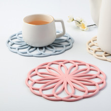 FOURETAW 1 Ps Creative Flower Shape Nordic Style Mats Pads Table Mat Cloth Tableware Pad Dinner Decor Dish Pan Cup Mug