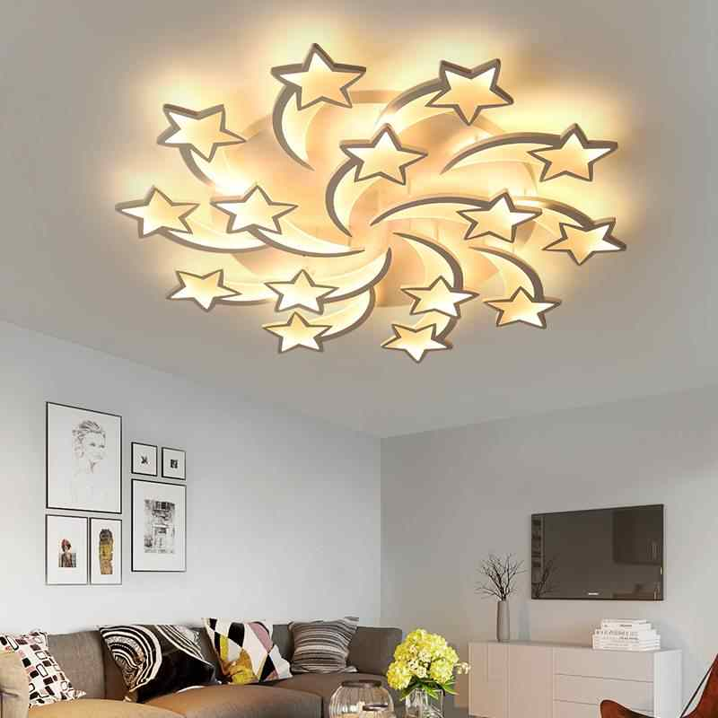 IRALAN  LEDs Chandelier Modern stars For Living Room Bedroom remote/APP support Home design chandelier  model   ICFW1913