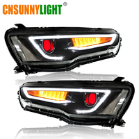 CNSUNNYLIGHT For Mitsubishi Lancer EVO X 2008 2017 Car Headlight Assembly LED DRL Turn Signal Xenon HID Projector Lens Plug Play