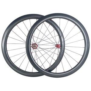 Image 1 - SUPER LEGGERO 1420g 45 millimetri copertoncino figura di U bici da strada in fibra di carbonio etero pull fossette wheelset Powerway mozzi R36 fossetta ruote
