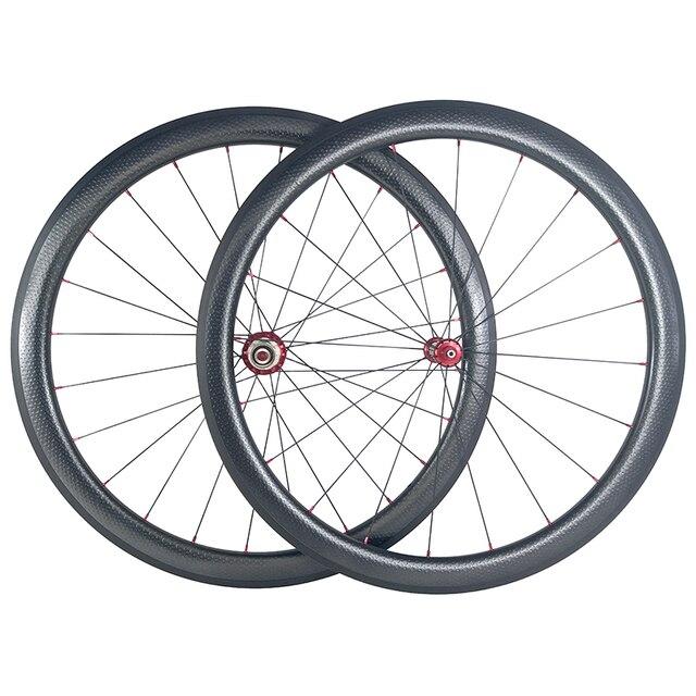 SUPER LEGGERO 1420g 45 millimetri copertoncino figura di U bici da strada in fibra di carbonio etero pull fossette wheelset Powerway mozzi R36 fossetta ruote