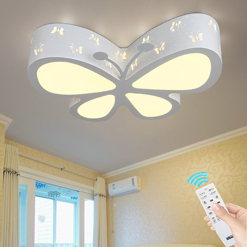 Butterfly Acrylic Modern led ceiling lights for living room bedroom remote  control led home Lighting home lighting fixtures
