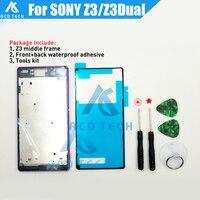 New Middle Frame Bracket Panel Front Frame Bezel Panel Housing Cover For Sony Xperia Z3 D6603