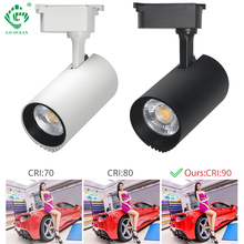 LED Track light 10W/20W/30W/40W Clothing Store Exhibition COB Lamp Showroom Spot Lights Fixture Rail Spotlights Shop Lighting led track light track lighting cob 15w 20w 30w 36w clothing shop windows showroom exhibition spotlight ceiling rail spot lamp