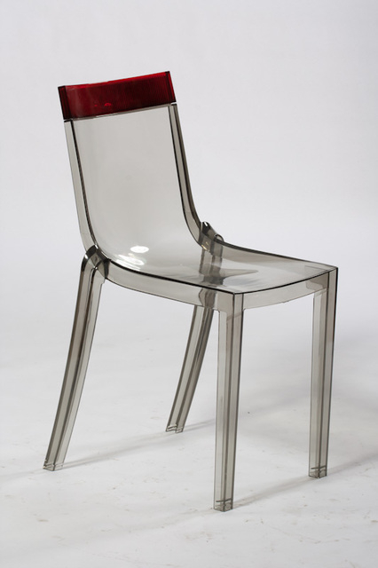 Minimalist Modern Design Transparent Double Color Dining Side Chair Loft  Caft Popular Colorful Plastic Chair Modern