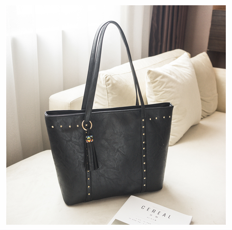 Rivet Leather Women Tote Handbag 32