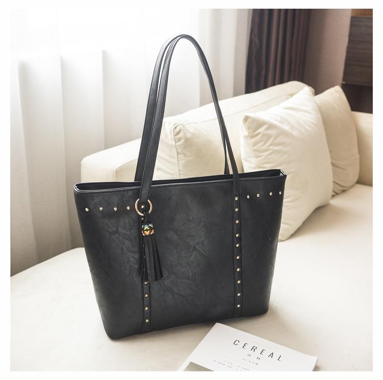 Rivet Leather Women Tote Handbag 32