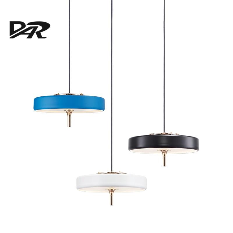 2017 New Design Dining Room Decoration Led Pendant Lights Black/White/Blue Single Head Hanging Lamp Fixture suspension luminaire single sided blue ccs foam pad by presta