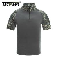 TACVASEN New Brand Clothing Mens Tactical T Shirts Men Summer Short Sleeve Military Army Combat Design