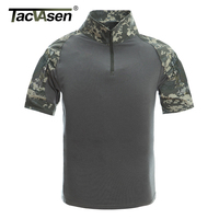 TACVASEN New Brand Clothing Mens Tactical T Shirts Men Summer Short Sleeve Military Army Combat Design