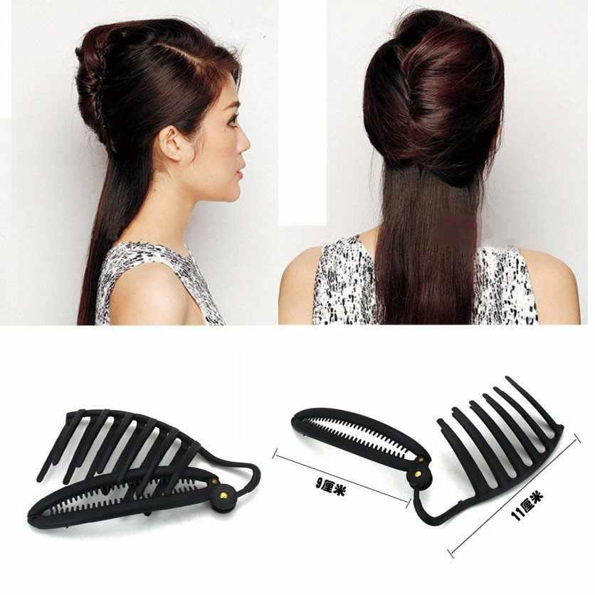 2018 Rushed Curler Hair Korean Style Girls Accessories 11cm Women Diy Formal Styling Updo Bun Comb Braid Maintenance Dish Tools
