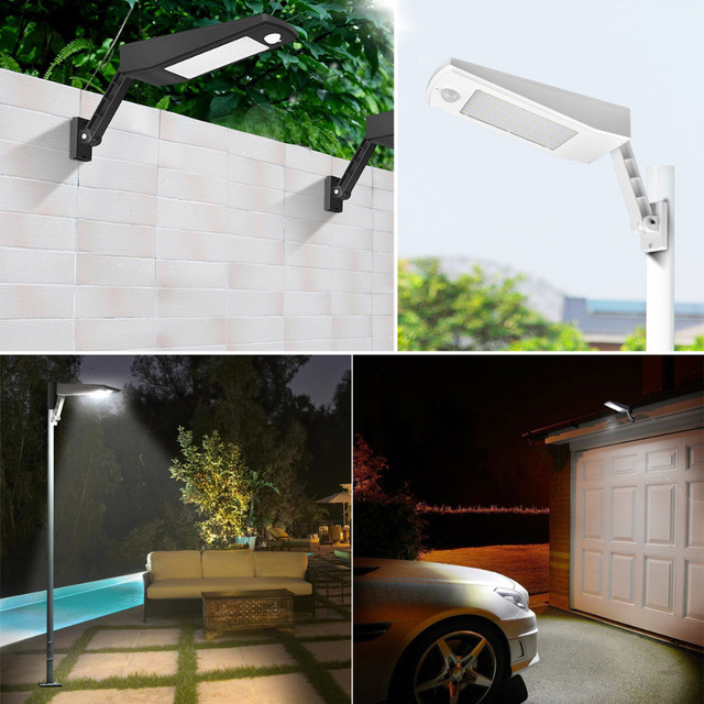 High Power Solar Outdoor Garden Street Flood light Led Solar Panel Powered Lamp Path light Sensor night Security Wall lighting