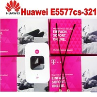 Unlocked Huawei E5577 4G LTE Cat4 e5577cs 321 Mobile Hotspot Wireless Router plus 2pcs 4g antenna