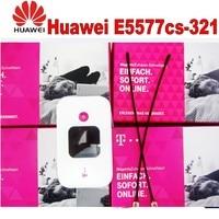 Unlocked Huawei E5577 4G LTE Cat4 e5577cs 321 Mobile Hotspot Wireless Router plus 2pcs 4g antenna
