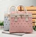 New collection women shoulder bag fashion heart hollow out contrast color handle bag sweet girl shoulder bag messenger bag