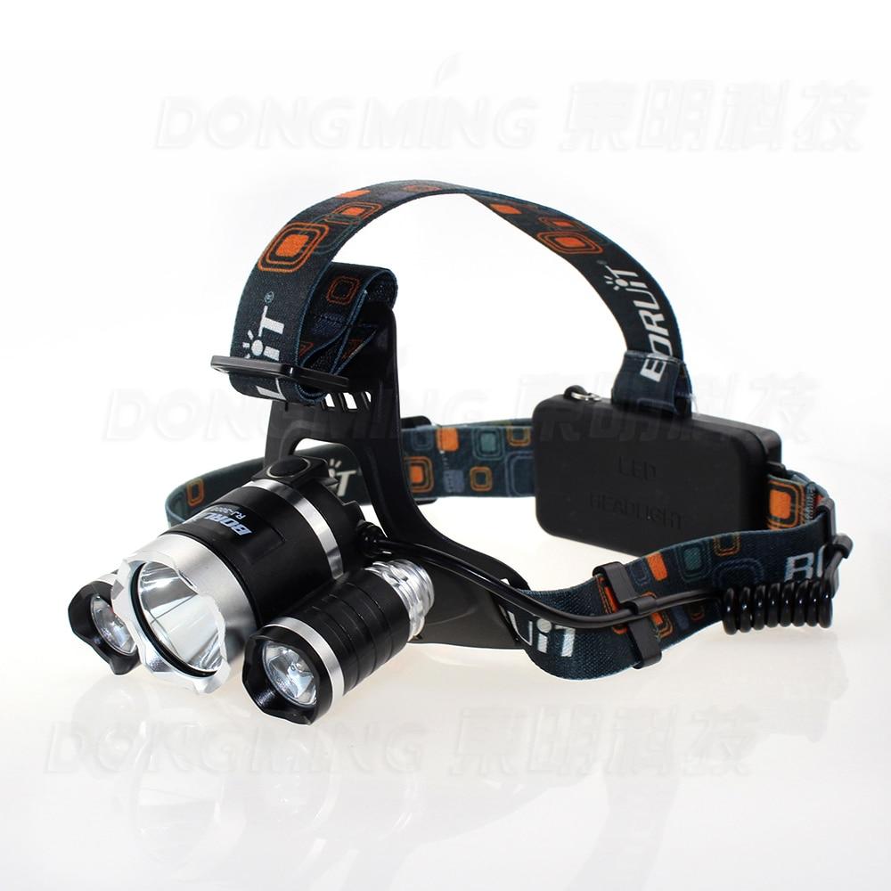 3 Led Headlamp Cree Xml T6 6000 Lumens Rechargeable Headlights