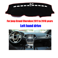 For jeep Grand Cherokee dashboard mat protective pad dash mat covers Photophobism Pad car styling accessories 2011-2016