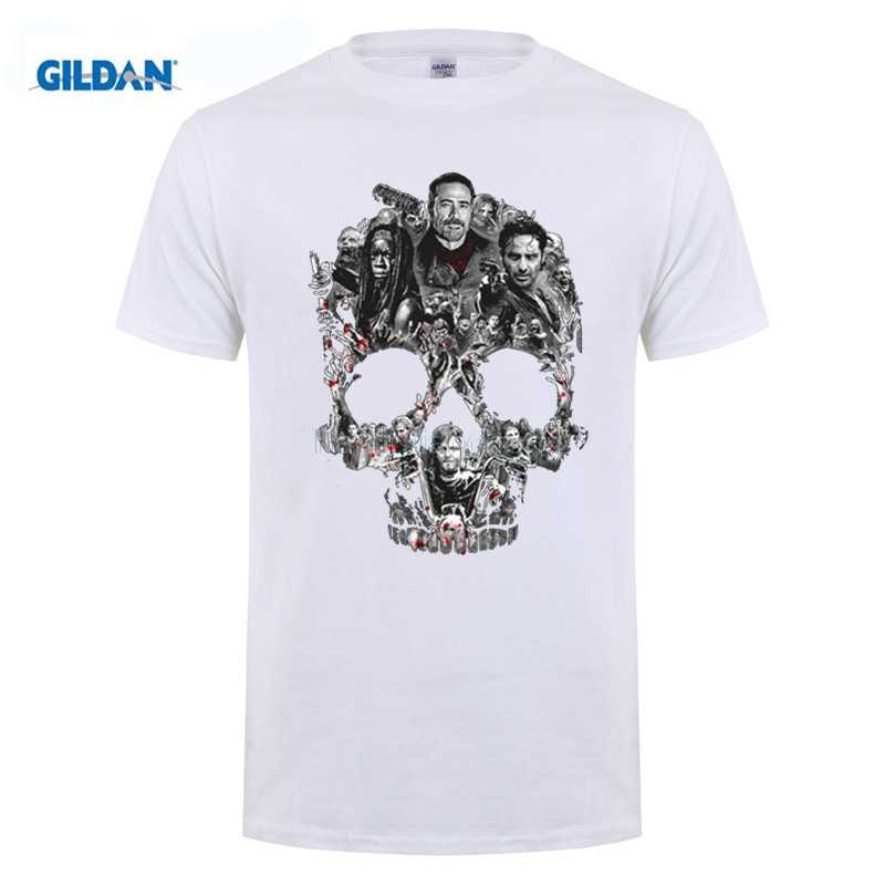 ced84348f MEN T SHIRT The Walking Dead Negan Skull Graphic T-Shirt Men and women tee