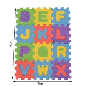 Image 4 - 36 pcs/set Baby Game Playing Mats Alphabet Numerals Baby Kids Play Mat Children Soft Floor Crawling Rugs Mini EVA Foam Mat