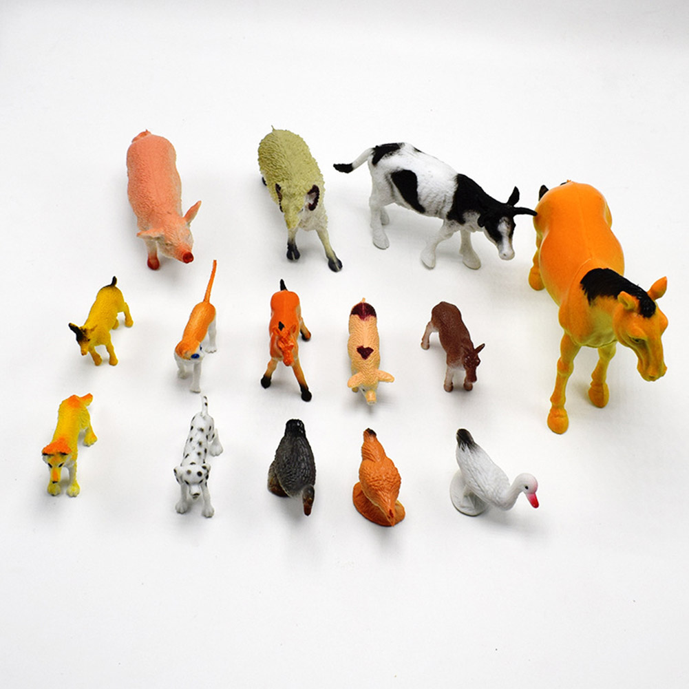 Farm Animal Model Toy Simulation Horse And Sheep Ducks And Geese Set Kids Educational Toy For Children Gift simulation mini golf course display toy set with golf club ball flag