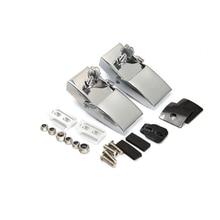 Silver Hood Latch Catch Lock Bracket Kit Engine Hood Adjustable Tension Rod For Jeep Wrangler JK (2DR/4DR) 2007-2016