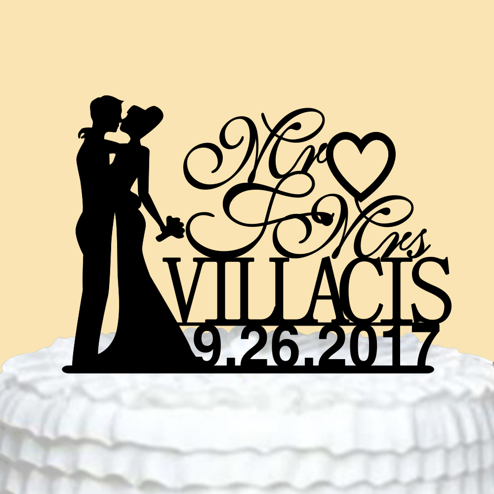Personalized Wedding Cake Topper Acrylic Mr Mrs Cake Topper with ...