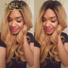 7A Ombre Lace Front Wig Human Hair long  virgin Full Lace Wig Glueless Brailian Lace Wig For Black Women Free Shipping