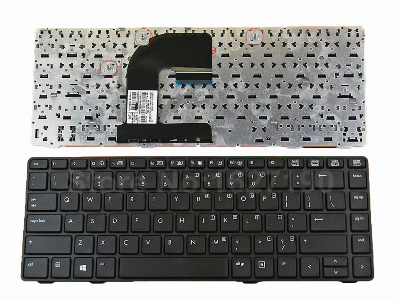 New Laptop Keyboard For HP EliteBook 8460P BLACK FRAME BLACK For Win8 New US/United States Layout Notebook Keyboards Teclado