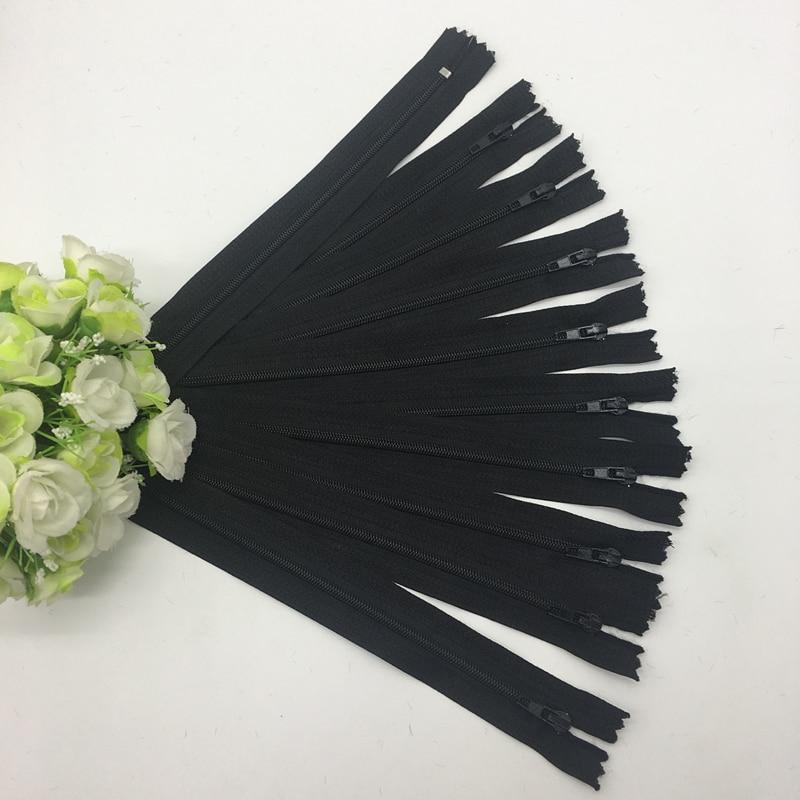 10 шт. 8 дюймов(20 см) нейлоновая катушка молнии портной шитье ремесло аксессуары для одежды Crafter's DIY Одежда Подушка инструмент портного - Цвет: Black