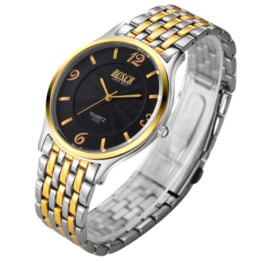 bosck watch ultrathin men s steel chain band gold waterproof bosck watch ultrathin men s steel chain band gold waterproof watches men watch shipping in quartz watches from watches on aliexpress com alibaba