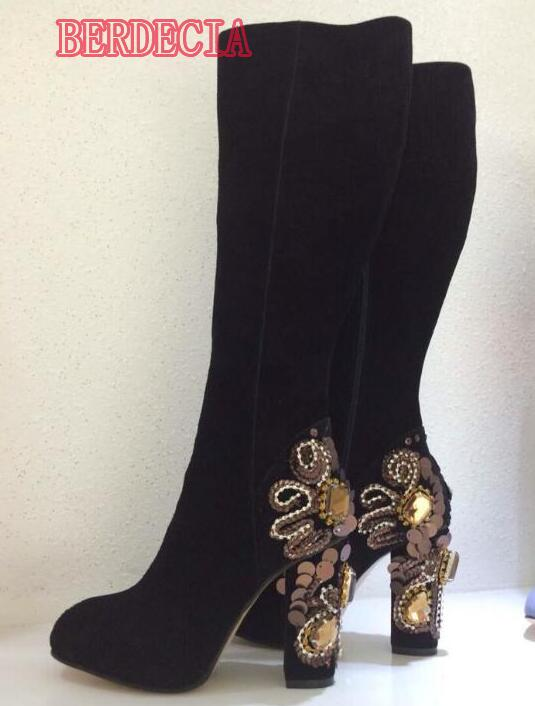 ladies knee high boots page 28 - suede