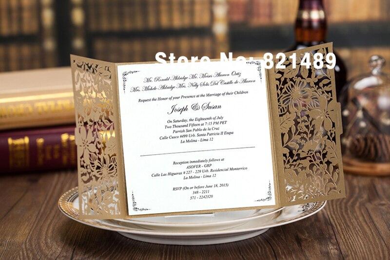 Vintage Oro Boda Tarjetas De Invitación Oro Formal Banquete