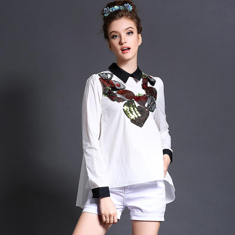 Popular Designer White Blouses-Buy Cheap Designer White Blouses ...