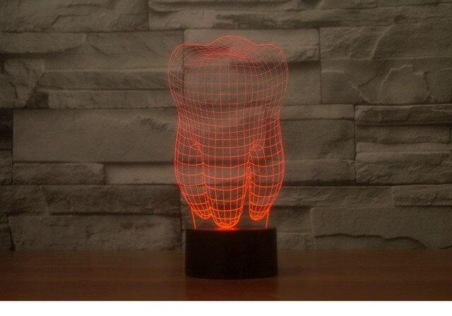 Creative dent lampe blanc lampe de table de bureau Étude dent led