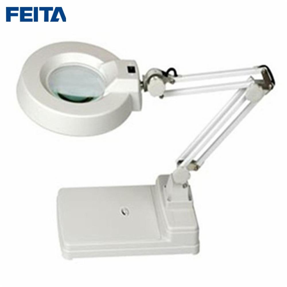 Aliexpress wholesale 10X FT-86C Desk Magnifing with LED Lamps ,Bai Bo Transparent Optical Magnifier Lamps Desktop Magnifiers aliexpress v