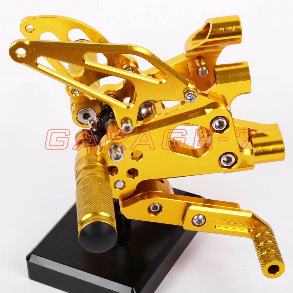 Rearsets Adjustable Foot Rests Rear Set Yellow For DUKATI Panigale 1199 1199S 1199R 2012-2013 Motorcycle Foot Pegs A New CNC