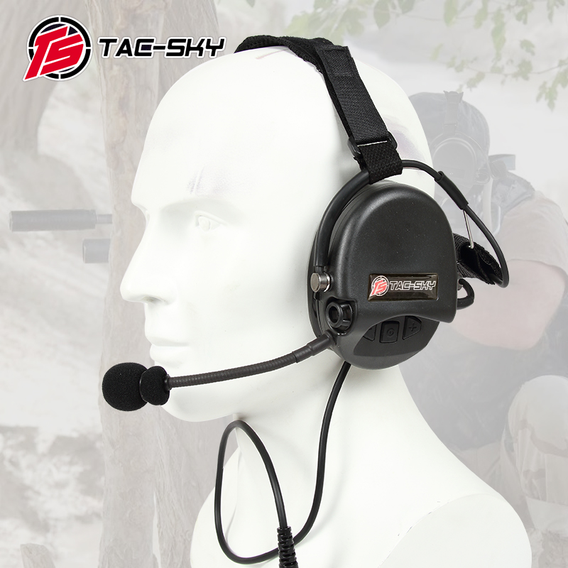 TAC-SKY TCI LIBERATOR II  SORDIN Silicone Earmuff Version Noise Reduction Pickup Headset-BK
