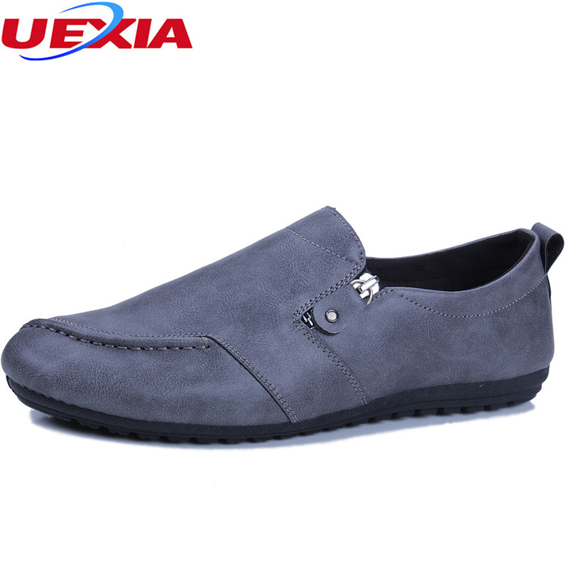 4cac85dbf53f01 ... UEXIA mannen Jurk Rijden Schoenen Lederen Oxfords Mode Mannelijke  Bootschoenen Luxe Mannen Business Klassieke Gentleman Sneakers Mocassins  Goedkoop.