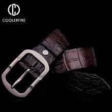 Ремни для мужчин модельер 100% мужская Подлинная Кожаный пояс Высокого качества пряжки известный люксовый бренд ремни человек коричневый бизнес(China (Mainland))