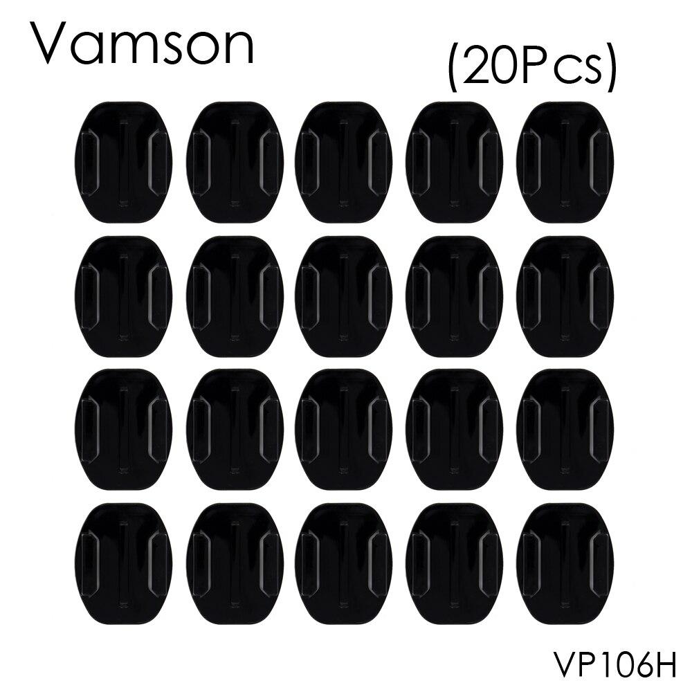 Galleria fotografica Vamson for Xiaomi for Yi Accessory 20Pcs Flat Surface Base Mount For Gopro Hero 5 4 3+ 3 2 4Session for SJ4000 4K VP106H
