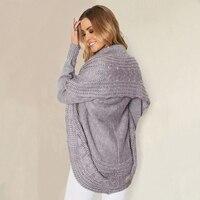 Fashion Winter Shrug Knitted Sweater Cardigan Women Autumn White Cardigan Female Turn Down Collar Sweater Cardigan