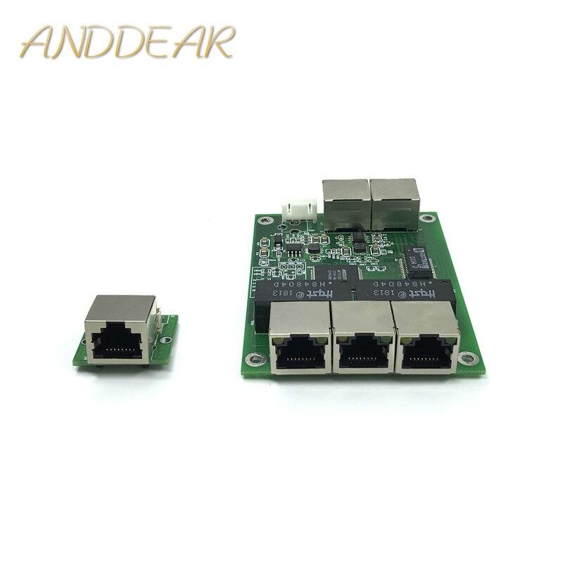 5-port Gigabit Schalter Modul Ist Weit Verbreitet In Led Linie 5 Port 10/100/100 0 M Kontaktieren Port Mini Schalter Modul Pcba Motherboard