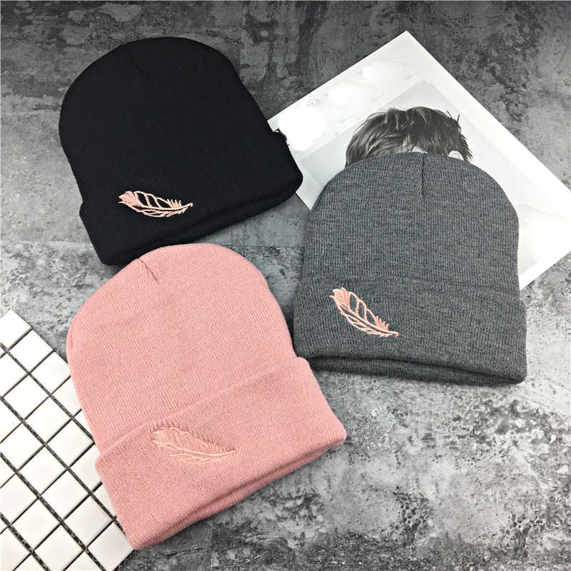 d172627232d69 Detail Feedback Questions about Men Women Knit Beanie Warm Winter Hat  Korean Embroidery Letters Bonnet Couples Pink Cap Wool Skull Fashion Autumn  Girl Hats ...