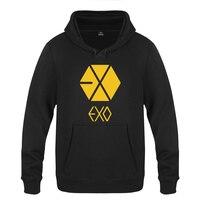 EXO Concert Fans Sweatshirts Men 2018 Mens Hooded Fleece Pullover Hoodies